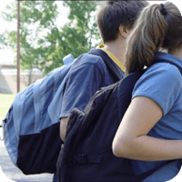Continually wearing the wrong items, such as a heavy backpack, can cause injury to your health